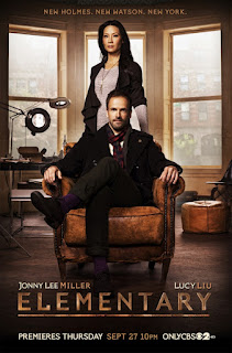 Jonny Lee Miller and Lucy Liu as Sherlock Holmes and Joan Watson in CBS Elementary
