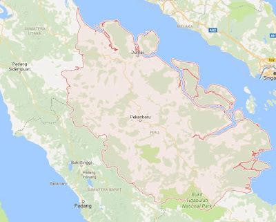 Peta Wilayah Provinsi Riau