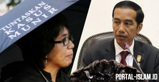 Istri (alm) Munir Akhirnya Sadar: HAM Cuma Jadi Komoditi Politik Jokowi Buat Berkuasa
