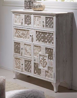 Mueble Recibidor Blanco Decape Michelle