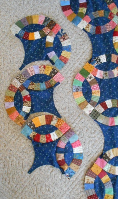 Tips for Double Wedding Ring Quilt - Tutorial