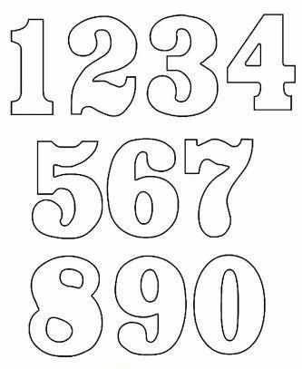 N meros para imprimir do 0 a 9 como fazer - Como pintar numeros en la pared ...