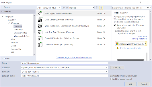 Hello World with Windows 10 Core IoT and Visual Studio 2015