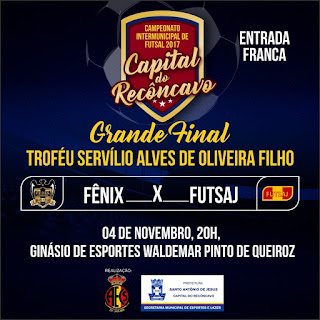 Campeonato de Futsal Capital do Recôncavo vai homenagear Servílio Alves. Final é neste sábado (4)