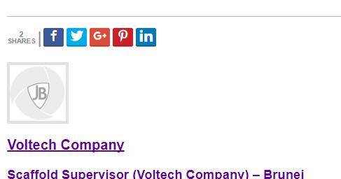 Oil &Gas Vacancies: Scaffold Supervisor (Voltech Company
