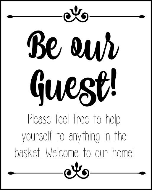 Bathroom Printable, Guest Bathroom Printable, Free Printable