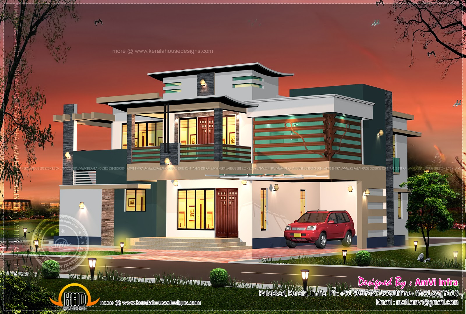 Floor Plan Of 260 Sq M House Elevation Kerala Home