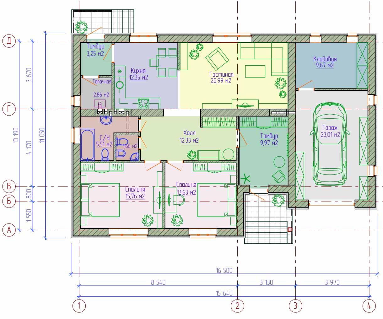 Проекты домов от Евгения Мороза: №010-01. Готовый проект ... Керамзитобетонные Блоки