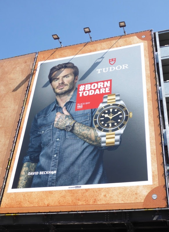 David Beckham Born to Dare Tudor watch billboard London