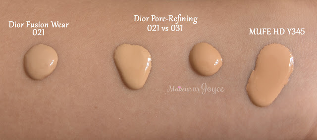 Dior Forever 031 Sand 021 Linen Swatches Mufe Y345