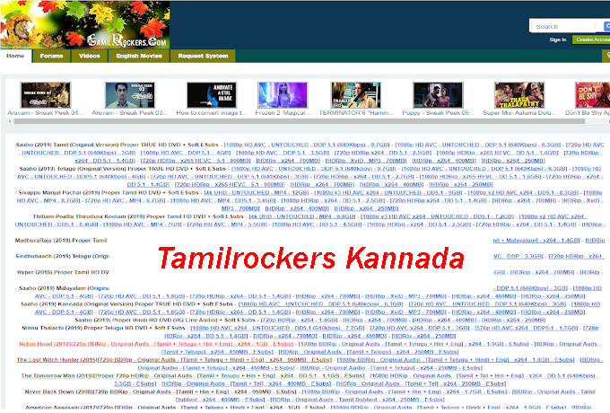 Tamilrockers Kannada- Tamilrockers Kannada 2020 Movies Download