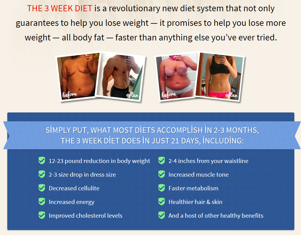 The 3 Week Diet Does It Work