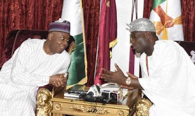 Bukola Saraki hosts Ooni of Ife Oba Adeyeye Ogunwusi in Abuja