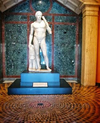 Statue at The Getty Villa