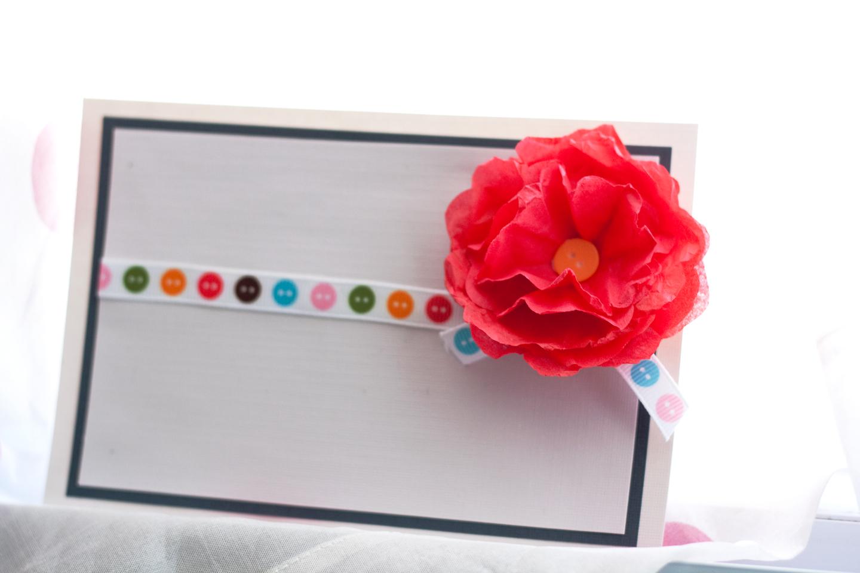 mrs ricefield paper flower card  tutorial thursday