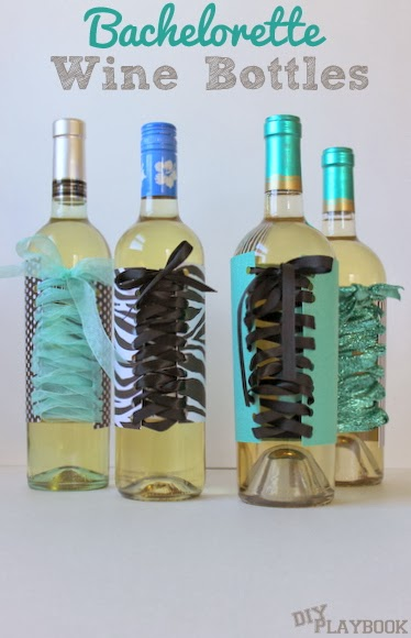 Bachelorette Party Wine Bottles are the perfect easy gift and they add some sparkle to boring old wine bottles!