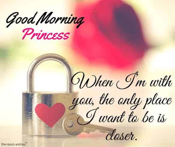 good morning princess text for her
