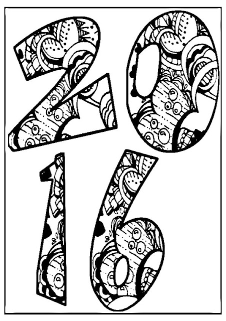 Happy New Year Coloring Pages For Adults