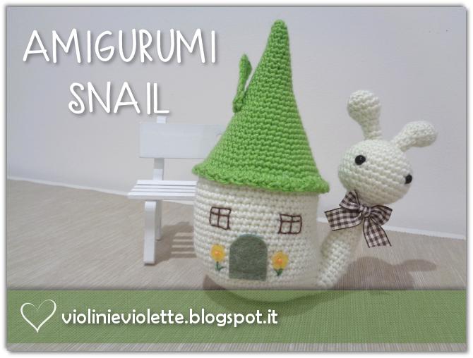lumaca amigurumi (tutorial schema)/How to crochet a snail ... | 508x670