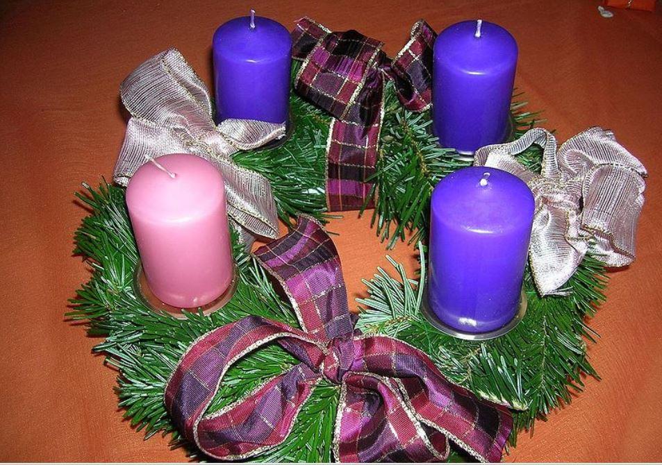 C mo hacer la corona de adviento ideas para navidad - Velas adviento ...