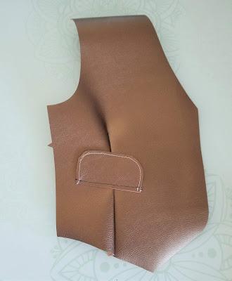 Cricut leather steampunk vest