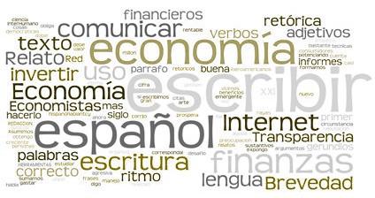 Nube de palabras sobre economía y finanzas