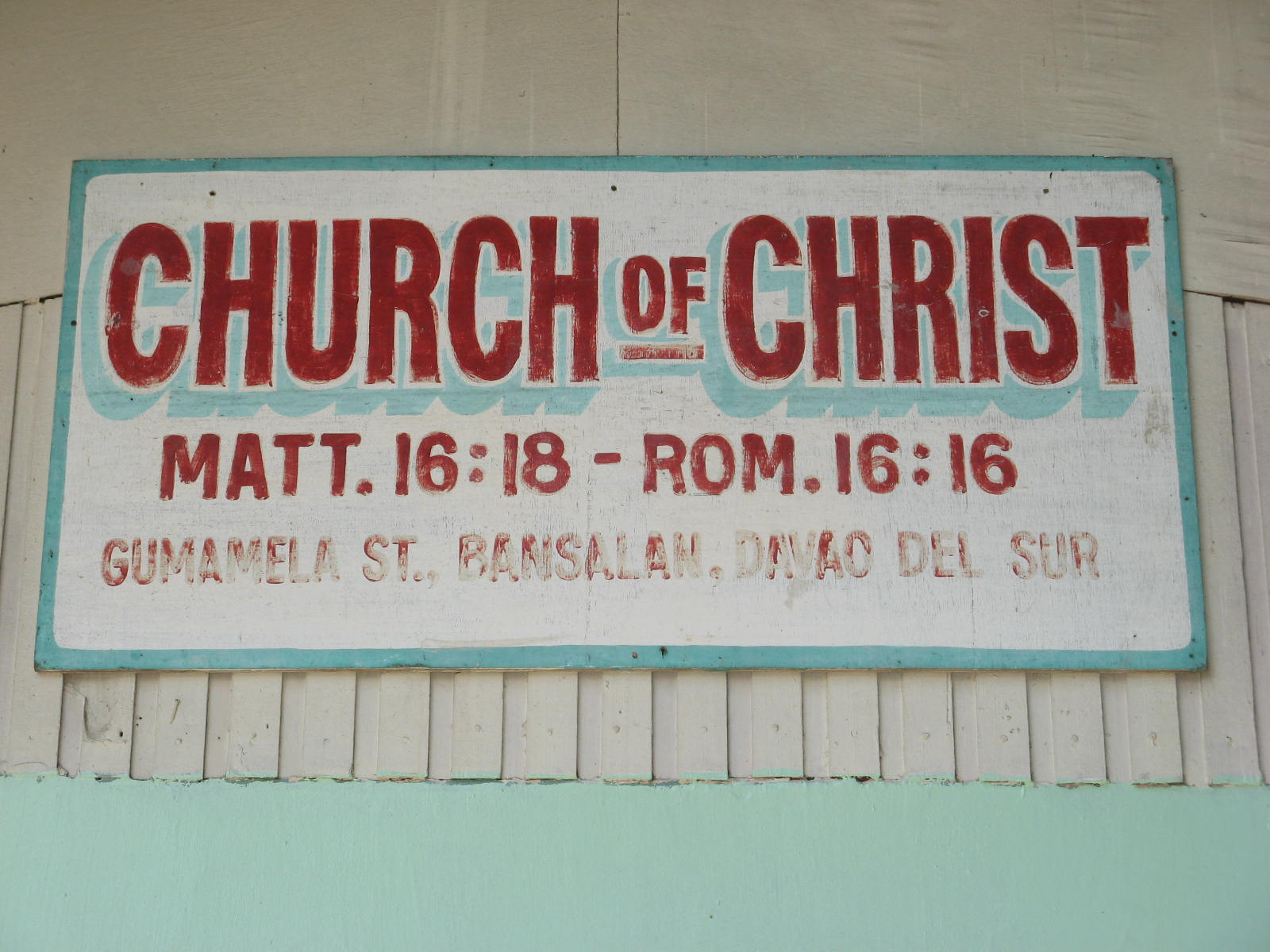 Brother Franklin Isla, the preacher here in Bansalan church of Christ has invited many preachers from different places. The SPEAKERS on this afternoon were ...