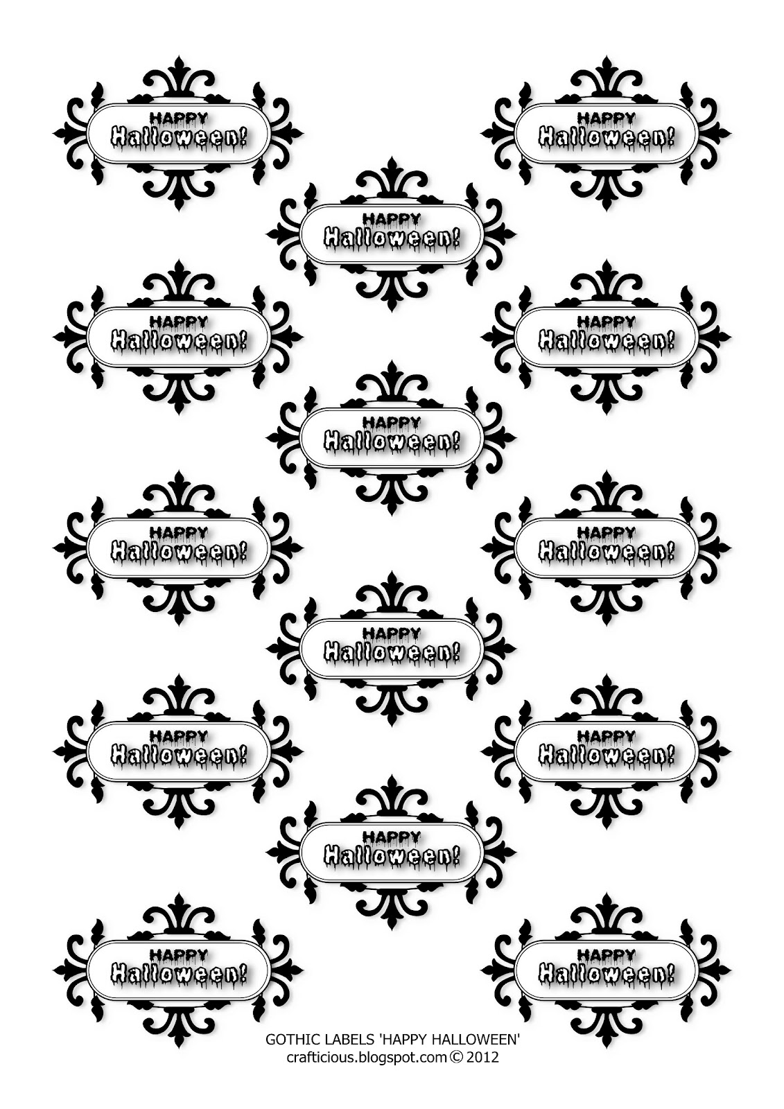 Crafticious Free Halloween Backing Papers Amp Labels