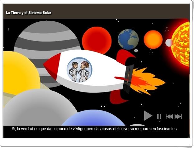 """""""La Tierra y el Sistema Solar"""" (Aplicación interactiva de 1º y 2º de Secundaria)"""