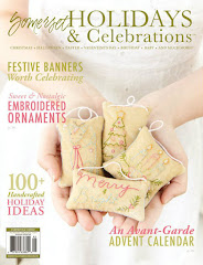 My Christmas ornaments on the cover of Somerset holidays magazine