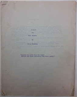 "A typed title page for ""Howl."""