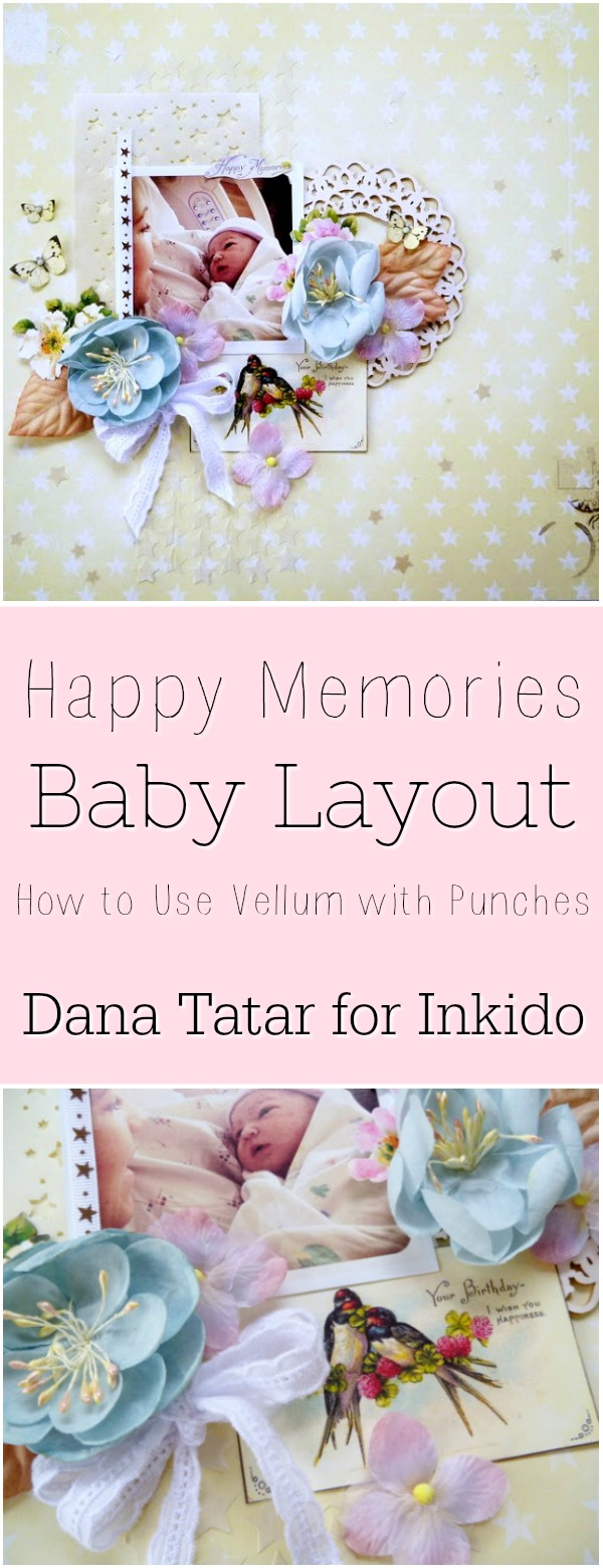 Happy Memories Baby Layout by Dana Tatar for Inkido