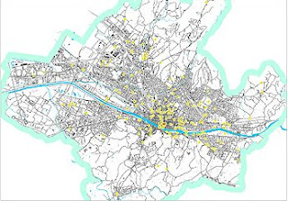 Map of free public WiFi hotspots in Florence, Italy
