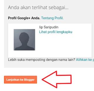 setelah membuat profil blogger melanjutkan ke pendaftaran blog