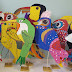 Recycled Cardboard Birds