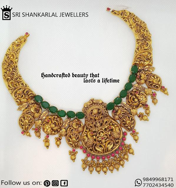 Nakshi Work Mango Choker by Shankarlal
