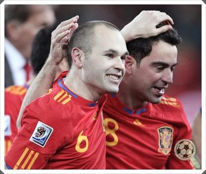 Xavi Iniesta Spain