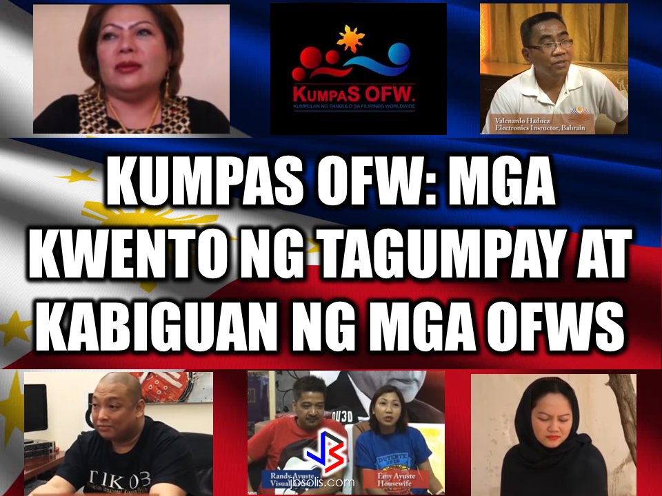 "KumpaS OFW (Kumpulan ng Pangulo Sa mga Filipinos Worldwide) is a compilation of OFW stories, success and failure likewise,  gathered by the Presidential Communications Office to show the real situations of the OFWs working outside the country.  All video clips belong to the Presidential Communications Office. Watch and be inspired. Story #1   This video is the story of an OFW in Saudi Arabia. A former household service workers who strived to succeed and became a successful business woman. She worked as a beautician and eventually put up her own recruitment firm. She devoted herself to helping distressed household workers without expecting anything in return. Fatima Ibrahim is a living example that life may be unforgiving at times but there's always light at the end of the tunnel.  Story #2  Valenardo Haduca, an electronics instructor in Bahrain relates his experience being a teacher in an unfamiliar territory with far different culture. How he needed more patience in dealing with his students. OFWs, more than others develop more patience while working abroad. It is a vital virtue every OFW should have in dealing with other nationalities at any given country.   Story #3  Rosielyn Dela Rita found her refuge at Bahay-Kalinga, a shelter for abused OFW women, (a counterpart of Esteraha for OFW men). Rosielyn was among the OFWs who availed the amnesty and had been repatriated with the help of Philippine Overseas Labor Office in Saudi Arabia.  Story #4  For Randy Ayuste, the path to success was never easy. Before he became a successful graphic/visual artist in Bahrain, he experienced how to be swindled and underpaid. He said that however successful an OFW may be in whatever field you have abroad, it will never be called a success because your family longs for your presence back home.    Story #5  For John Bituin, a DJ in Bahrain, being an OFW is a life of challenges. From being a newbie DJ who hardly earns P20 in the Philippines. He has given a chance to work in Bahrain, from being a DJ to a successful entertainment business owner who brings Filipino bands and talents to Bahrain.    RECOMMENDED: At this age where children love to stay on the couch holding their tablets and mobile phones, an elementary student chooses to be active in school and swimming which made him the ""heaviest"" elementary graduate on earth.   A student in Mabalacat, Pampanga raked 58 medals from academic and different fields. On his Facebook post, he said that this time it's heavier compared to the medals he got last year. Joshua Santiago, 12, graduated in Elementary at Mabiga Mabalacat Elementary School in Mabalacat Pampanga earlier this month. His video post with over a million views as of this writing  shows how many medals he got. Most of his medals are from the swimming competitions where he joined and won including a chance to participate at the Palarong pambansa.  His dedication and determination paid off as he graduated. This little guy inspired everyone around him especially his teammates and classmates. To collect more than 10 medals   would be enough but for him it was unbelievable.    In a facebook status, his mother made a clarification that those 58 medals was from his being an excellent swimmer and from his academic excellence. He was also awarded as ""Athlete of the Year"".    Recommended:  A cleaner in Saudi Arabia was mocked on social media after a photo of him looking at jewelry went viral. The Department of Health expressed concern  over possible mental illness among the young people due to the alarming amount of time they spend on social media.  According to DOH spokesman, Eric Tayag, while social media is a way to connect to other people, it also has adverse effects.  Tayag also said that most juveniles that are fond of social media are also involved in bullying, angst and depression.  Bullying and depression can start with issues about love, relationship with the same sex, unplanned pregnancy, problems at school, at home and health problems.  Common symptoms that a person is experiencing depression is that  they do not do daily activities normally like taking a bath, skipping meals, always sad and not engaging in conversations.   {INSERT 2-3 PARAGRAPHS HERE} {INSERT ANOTHER 5 {INSERT 2-3 PARAGRAPH   The severe depression that burdened the young people through social media results to bullying. even social media creates a connection, people with mental health issues perceive it differently.  DOH step is a response to the World Health Organization (WHO) reports that from 2005 to 2015, the number of people who suffer depression that leads to committing suicide has increased to 18%.  WHO celebrated  World health Day that focused on how to cure depression problems. It can be cured by means of counselling.  In 2005, 280 million people suffered from depression and has increased to 332 Million in 2015. This is a serious threat to all the young people around the world including the Filipino youth.  In the records of the DOH HOPE Line, they have received 3,479 depression  related phone calls in 2016. Most number of calls are recorded on November and December last year and on February this year.  Health Secretary Paulyn Jean Ubial said that the DOH has allocated P100 million funds to address the said problem in mental illness . Source: Philstar Recommended: Facebook has been a part of everyday life for many. From here they can be aware of what's currently happening around them, get in touch with old friends, some even sell things and make a living. Social media platforms like facebook provides useful informations from simple shoutouts and statuses to relevant news and current events. But lately, a lot of false news has invaded the social media spreading false and malicious posts. A lot of them is just a click bait which redirects you to a site full of ads. Some money-making maniacs are taking advantage of the popularity of social media sites making it difficult for the netizens to spot a legitimate posts from a fake one.    A wife of an OFW asked OWWA about what sort of  business she can start as a spouse of an OFW who is an active member. Samantha Natividad  said that her husband is an OFW for a long time and she wants to start a business to help her husband as their children are growing up as well as their expenses. As a helpful information for other OFW spouses  who also want to help  their OFW partners, we made this info graphics regarding this topic.  Does OWWA have an existing program for OFWs who want to start their own business? Yes. The Overseas Workers Welfare Administration (OWWA) has  two existing programs under the reintegration program  for those who want to start their own business.  What are those? In the first program, OWWA can give a 'grant' for OFW spouses who want to start even a small scale business. How much is the amount of funds OWWA can provide under this program? The fund that can be granted under this program depends on what kind of business they want to start. However, the maximum amount is only P20,000.   What is the other program? The other program is called a 'special loan program'. this loan program is through partnership with the Development Bank of the Philippines (DBP) and the Land Bank of the Philippines.  How much can an OFW spouse can avail on this program? OFWs and their spouses can avail a loan amounting from P300,000 up to P2,000,000.  How much should be the net income of an OFW to avail of this loan? For an OFW to avail of this loan, he/she must be earning a net monthly income of at least P10,000 to avail the loan amount of P3,000 up to P2 Million.    How much will be the interest rate? The loan will have an interest rate of 7.5% annually.  What will be the mode/frequency of payment? Depending on project's cash flow, the OFW can pay it on monthly, quarterly or annual basis.  Where  should the OFW wife/husband apply to avail these programs? They can apply at any OWWA Regional Welfare Office (ORW) nearest to them.  What are the eligibility requirements  for the  OFW to be qualified to avail? 1. The OFW must be an active OWWA member.  2. OFW husband/wife who want to avail must have completed the Entrepreneurial Development Training (EDT) conducted by NRCO and OWWA ORWsin cooperation with the Department of Trade and Industry/Philippine Trade Training Center (PTTC)/ Bureau of Micro, Small and Medium Enterprise Development (BSMED).  3. They must provide 20% equity.  4. The project or business must generate a net income of at least P10,000 for the OFW.  For details and information regarding these program, you can contact OWWA Regional Offices in your area.  *These information is based on the answer provided by OWWA Deputy Administrator Josefino Torres. Source: BanderaInquirer.net   Recommended:     2017 Top 10 IDEAS for OFWs to Invest  A Filipina based in Waikato, New Zealand has now been sentenced to 11 months and  2 weeks of house arrest after she was convicted for 284 immigration fraud charges involving her visa scam back in October 2015. A 180 hour community service also comes with the sentence. Loraine Anne Jayme, 35, a resident of Te Aroha, Waikato has a dual citizenship. For every OFW who wish to come to New Zealand, she charges $2,250 each. It took some time for the scam to be uncovered because Immigration New Zealand (INZ) didn't initially realise a large portion of the workers were processing their application through the alleged ringleader.   However, Immigration Minister Michael Woodhouse said that more than a thousand Filipinos who might have entered the country illegally  using fake visas could stay.  Mr. Woodland said that they could stay to avoid potential damage to the dairy industry and the rebuilding of Christchurch. There are 38,000  OFWs working on dairy farms in New Zealand and they are living with pretty good reputation with regards to their work ethics and they are worried about what it could mean to them.  ""We're law abiding people. We like to see the law of our land upheld and proper process done,"" Mr Lewis said.   ""So yeah, I have to give credit to Immigration New Zealand for doing it and hopefully they'll be back on deck next week processing them within their required rules,"" he added. The authorities are now auditing farms around the Waikato, Canterbury and Southland. Source: TVNZ, NewsHub, Inquirer RECOMMENDED:  The mother of a 12-year old girl who mysteriously died while on her father's care in Jeddah, Saudi Arabia sought the help of the Philippine government, particularly on the Presidential Action Center to help her forward the case to the DFA to allow the Philippine Consulate in Jeddah  to transmit the autopsy report conducted on her daughter.Bliss Mendoza, an OFW in Canada was working in Jeddah as a nurse together with her husband and daughter ""Tipay"" before she worked in Canada and left her daughter with her husband's care in Jeddah.     The OFWs are the reason why President Rodrigo Duterte is pushing through with the campaign on illegal drugs, acknowledging their hardships and sacrifices. He said that as he visit the countries where there are OFWs, he has heard sad stories about them: sexually abused Filipinas,domestic helpers being forced to work on a number of employers. ""I have been to many places. I have been to the Middle East. You know, the husband is working in one place, the wife in another country. The so many sad stories I hear about our women being raped, abused sexually,"" The President said. About Filipino domestic helpers, he said:  ""If you are working on a family and the employer's sibling doesn't have a helper, you will also work for them. And if in a compound,the son-in-law of the employer is also living in there, you will also work for him.So, they would finish their work on sunrise."" He even refer to the OFWs being similar to the African slaves because of the situation that they have been into for the sake of their families back home. Citing instances that some of them, out of deep despair, resorted to ending their own lives.  The President also said that he finds it heartbreaking to know that after all the sacrifices of the OFWs working abroad for the future of their families they would come home just to learn that their children has been into illegal drugs. ""I made no bones about my hatred. I said, 'If you do drugs in my city, if you destroy our daughters and sons, I'll just have to kill you.' I repeated the same warning when i became president,"" he said.   Critics of the so-called violent war on drugs under President Duterte's administration includes local and international human rights groups, linking the campaign on thousands of drug-related killings.  Police figures show that legitimate police operations have led to over 2,600 deaths of individuals involved in drugs since the war on drugs began. However, the war on drugs has been evident that the extent of drug menace should be taken seriously. The drug personalities includes high ranking officials and they thrive in the expense of our own children,if not being into drugs, being victimized by drug related crimes. The campaign on illegal drugs has somehow made a statement among the drug pushers and addicts. If the common citizen fear walking on the streets at night worrying about the drug addicts lurking in the dark, now they can walk peacefully while the drug addicts hide in fear that the police authorities might get them. Source:GMA {INSERT ALL PARAGRAPHS HERE {EMBED 3 FB PAGES POST FROM JBSOLIS/THOUGHTSKOTO/PEBA HERE OR INSERT 3 LINKS}   ©2017 THOUGHTSKOTO www.jbsolis.com SEARCH JBSOLIS The OFWs are the reason why President Rodrigo Duterte is pushing through with the campaign on illegal drugs, acknowledging their hardships and sacrifices.     ©2017 THOUGHTSKOTO www.jbsolis.com SEARCH JBSOLIS The mother of a 12-year old girl who mysteriously died while on her father's care in Jeddah, Saudi Arabia sought the help of the Philippine government, particularly on the Presidential Action Center to help her forward the case to the DFA to allow the Philippine Consulate in Jeddah  to transmit the autopsy report conducted on her daughter.Bliss Mendoza, an OFW in Canada was working in Jeddah as a nurse together with her husband and daughter ""Tipay"" before she worked in Canada and left her daughter with her husband's care in Jeddah.    The OFWs are the reason why President Rodrigo Duterte is pushing through with the campaign on illegal drugs, acknowledging their hardships and sacrifices. He said that as he visit the countries where there are OFWs, he has heard sad stories about them: sexually abused Filipinas,domestic helpers being forced to work on a number of employers. ""I have been to many places. I have been to the Middle East. You know, the husband is working in one place, the wife in another country. The so many sad stories I hear about our women being raped, abused sexually,"" The President said. About Filipino domestic helpers, he said:  ""If you are working on a family and the employer's sibling doesn't have a helper, you will also work for them. And if in a compound,the son-in-law of the employer is also living in there, you will also work for him.So, they would finish their work on sunrise."" He even refer to the OFWs being similar to the African slaves because of the situation that they have been into for the sake of their families back home. Citing instances that some of them, out of deep despair, resorted to ending their own lives.  The President also said that he finds it heartbreaking to know that after all the sacrifices of the OFWs working abroad for the future of their families they would come home just to learn that their children has been into illegal drugs. ""I made no bones about my hatred. I said, 'If you do drugs in my city, if you destroy our daughters and sons, I'll just have to kill you.' I repeated the same warning when i became president,"" he said.   Critics of the so-called violent war on drugs under President Duterte's administration includes local and international human rights groups, linking the campaign on thousands of drug-related killings.  Police figures show that legitimate police operations have led to over 2,600 deaths of individuals involved in drugs since the war on drugs began. However, the war on drugs has been evident that the extent of drug menace should be taken seriously. The drug personalities includes high ranking officials and they thrive in the expense of our own children,if not being into drugs, being victimized by drug related crimes. The campaign on illegal drugs has somehow made a statement among the drug pushers and addicts. If the common citizen fear walking on the streets at night worrying about the drug addicts lurking in the dark, now they can walk peacefully while the drug addicts hide in fear that the police authorities might get them. Source:GMA {INSERT ALL PARAGRAPHS HERE {EMBED 3 FB PAGES POST FROM JBSOLIS/THOUGHTSKOTO/PEBA HERE OR INSERT 3 LINKS}   ©2017 THOUGHTSKOTO www.jbsolis.com SEARCH JBSOLIS The OFWs are the reason why President Rodrigo Duterte is pushing through with the campaign on illegal drugs, acknowledging their hardships and sacrifices.     ©2017 THOUGHTSKOTO www.jbsolis.com SEARCH JBSOLIS  2017 Top 10 IDEAS for OFWs to Invest  A Filipina based in Waikato, New Zealand has now been sentenced to 11 months and  2 weeks of house arrest after she was convicted for 284 immigration fraud charges involving her visa scam back in October 2015. A 180 hour community service also comes with the sentence. Loraine Anne Jayme, 35, a resident of Te Aroha, Waikato has a dual citizenship. For every OFW who wish to come to New Zealand, she charges $2,250 each. It took some time for the scam to be uncovered because Immigration New Zealand (INZ) didn't initially realise a large portion of the workers were processing their application through the alleged ringleader.   However, Immigration Minister Michael Woodhouse said that more than a thousand Filipinos who might have entered the country illegally  using fake visas could stay.  Mr. Woodland said that they could stay to avoid potential damage to the dairy industry and the rebuilding of Christchurch. There are 38,000  OFWs working on dairy farms in New Zealand and they are living with pretty good reputation with regards to their work ethics and they are worried about what it could mean to them.  ""We're law abiding people. We like to see the law of our land upheld and proper process done,"" Mr Lewis said.   ""So yeah, I have to give credit to Immigration New Zealand for doing it and hopefully they'll be back on deck next week processing them within their required rules,"" he added. The authorities are now auditing farms around the Waikato, Canterbury and Southland. Source: TVNZ, NewsHub, Inquirer RECOMMENDED:  The mother of a 12-year old girl who mysteriously died while on her father's care in Jeddah, Saudi Arabia sought the help of the Philippine government, particularly on the Presidential Action Center to help her forward the case to the DFA to allow the Philippine Consulate in Jeddah  to transmit the autopsy report conducted on her daughter.Bliss Mendoza, an OFW in Canada was working in Jeddah as a nurse together with her husband and daughter ""Tipay"" before she worked in Canada and left her daughter with her husband's care in Jeddah.     The OFWs are the reason why President Rodrigo Duterte is pushing through with the campaign on illegal drugs, acknowledging their hardships and sacrifices. He said that as he visit the countries where there are OFWs, he has heard sad stories about them: sexually abused Filipinas,domestic helpers being forced to work on a number of employers. ""I have been to many places. I have been to the Middle East. You know, the husband is working in one place, the wife in another country. The so many sad stories I hear about our women being raped, abused sexually,"" The President said. About Filipino domestic helpers, he said:  ""If you are working on a family and the employer's sibling doesn't have a helper, you will also work for them. And if in a compound,the son-in-law of the employer is also living in there, you will also work for him.So, they would finish their work on sunrise."" He even refer to the OFWs being similar to the African slaves because of the situation that they have been into for the sake of their families back home. Citing instances that some of them, out of deep despair, resorted to ending their own lives.  The President also said that he finds it heartbreaking to know that after all the sacrifices of the OFWs working abroad for the future of their families they would come home just to learn that their children has been into illegal drugs. ""I made no bones about my hatred. I said, 'If you do drugs in my city, if you destroy our daughters and sons, I'll just have to kill you.' I repeated the same warning when i became president,"" he said.   Critics of the so-called violent war on drugs under President Duterte's administration includes local and international human rights groups, linking the campaign on thousands of drug-related killings.  Police figures show that legitimate police operations have led to over 2,600 deaths of individuals involved in drugs since the war on drugs began. However, the war on drugs has been evident that the extent of drug menace should be taken seriously. The drug personalities includes high ranking officials and they thrive in the expense of our own children,if not being into drugs, being victimized by drug related crimes. The campaign on illegal drugs has somehow made a statement among the drug pushers and addicts. If the common citizen fear walking on the streets at night worrying about the drug addicts lurking in the dark, now they can walk peacefully while the drug addicts hide in fear that the police authorities might get them. Source:GMA {INSERT ALL PARAGRAPHS HERE {EMBED 3 FB PAGES POST FROM JBSOLIS/THOUGHTSKOTO/PEBA HERE OR INSERT 3 LINKS}   ©2017 THOUGHTSKOTO www.jbsolis.com SEARCH JBSOLIS The OFWs are the reason why President Rodrigo Duterte is pushing through with the campaign on illegal drugs, acknowledging their hardships and sacrifices.     ©2017 THOUGHTSKOTO www.jbsolis.com SEARCH JBSOLIS The mother of a 12-year old girl who mysteriously died while on her father's care in Jeddah, Saudi Arabia sought the help of the Philippine government, particularly on the Presidential Action Center to help her forward the case to the DFA to allow the Philippine Consulate in Jeddah  to transmit the autopsy report conducted on her daughter.Bliss Mendoza, an OFW in Canada was working in Jeddah as a nurse together with her husband and daughter ""Tipay"" before she worked in Canada and left her daughter with her husband's care in Jeddah.   The OFWs are the reason why President Rodrigo Duterte is pushing through with the campaign on illegal drugs, acknowledging their hardships and sacrifices. He said that as he visit the countries where there are OFWs, he has heard sad stories about them: sexually abused Filipinas,domestic helpers being forced to work on a number of employers. ""I have been to many places. I have been to the Middle East. You know, the husband is working in one place, the wife in another country. The so many sad stories I hear about our women being raped, abused sexually,"" The President said. About Filipino domestic helpers, he said:  ""If you are working on a family and the employer's sibling doesn't have a helper, you will also work for them. And if in a compound,the son-in-law of the employer is also living in there, you will also work for him.So, they would finish their work on sunrise."" He even refer to the OFWs being similar to the African slaves because of the situation that they have been into for the sake of their families back home. Citing instances that some of them, out of deep despair, resorted to ending their own lives.  The President also said that he finds it heartbreaking to know that after all the sacrifices of the OFWs working abroad for the future of their families they would come home just to learn that their children has been into illegal drugs. ""I made no bones about my hatred. I said, 'If you do drugs in my city, if you destroy our daughters and sons, I'll just have to kill you.' I repeated the same warning when i became president,"" he said.   Critics of the so-called violent war on drugs under President Duterte's administration includes local and international human rights groups, linking the campaign on thousands of drug-related killings.  Police figures show that legitimate police operations have led to over 2,600 deaths of individuals involved in drugs since the war on drugs began. However, the war on drugs has been evident that the extent of drug menace should be taken seriously. The drug personalities includes high ranking officials and they thrive in the expense of our own children,if not being into drugs, being victimized by drug related crimes. The campaign on illegal drugs has somehow made a statement among the drug pushers and addicts. If the common citizen fear walking on the streets at night worrying about the drug addicts lurking in the dark, now they can walk peacefully while the drug addicts hide in fear that the police authorities might get them. Source:GMA {INSERT ALL PARAGRAPHS HERE {EMBED 3 FB PAGES POST FROM JBSOLIS/THOUGHTSKOTO/PEBA HERE OR INSERT 3 LINKS}   ©2017 THOUGHTSKOTO www.jbsolis.com SEARCH JBSOLIS The OFWs are the reason why President Rodrigo Duterte is pushing through with the campaign on illegal drugs, acknowledging their hardships and sacrifices.  ©2017 THOUGHTSKOTO www.jbsolis.com SEARCH JBSOLISFacebook has been a part of everyday life for many. From here they can be aware of what's currently happening around them, get in touch with old friends, some even sell things and make a living. Social media platforms like facebook provides useful informations from simple shoutouts and statuses to relevant news and current events. But lately, a lot of false news has invaded the social media spreading false and malicious posts. A lot of them is just a click bait which redirects you to a site full of ads. Some money-making maniacs are taking advantage of the popularity of social media sites making it difficult for the netizens to spot a legitimate posts from a fake one.    A wife of an OFW asked OWWA about what sort of  business she can start as a spouse of an OFW who is an active member. Samantha Natividad  said that her husband is an OFW for a long time and she wants to start a business to help her husband as their children are growing up as well as their expenses. As a helpful information for other OFW spouses  who also want to help  their OFW partners, we made this info graphics regarding this topic.  Does OWWA have an existing program for OFWs who want to start their own business? Yes. The Overseas Workers Welfare Administration (OWWA) has  two existing programs under the reintegration program  for those who want to start their own business.  What are those? In the first program, OWWA can give a 'grant' for OFW spouses who want to start even a small scale business. How much is the amount of funds OWWA can provide under this program? The fund that can be granted under this program depends on what kind of business they want to start. However, the maximum amount is only P20,000.   What is the other program? The other program is called a 'special loan program'. this loan program is through partnership with the Development Bank of the Philippines (DBP) and the Land Bank of the Philippines.  How much can an OFW spouse can avail on this program? OFWs and their spouses can avail a loan amounting from P300,000 up to P2,000,000.  How much should be the net income of an OFW to avail of this loan? For an OFW to avail of this loan, he/she must be earning a net monthly income of at least P10,000 to avail the loan amount of P3,000 up to P2 Million.    How much will be the interest rate? The loan will have an interest rate of 7.5% annually.  What will be the mode/frequency of payment? Depending on project's cash flow, the OFW can pay it on monthly, quarterly or annual basis.  Where  should the OFW wife/husband apply to avail these programs? They can apply at any OWWA Regional Welfare Office (ORW) nearest to them.  What are the eligibility requirements  for the  OFW to be qualified to avail? 1. The OFW must be an active OWWA member.  2. OFW husband/wife who want to avail must have completed the Entrepreneurial Development Training (EDT) conducted by NRCO and OWWA ORWsin cooperation with the Department of Trade and Industry/Philippine Trade Training Center (PTTC)/ Bureau of Micro, Small and Medium Enterprise Development (BSMED).  3. They must provide 20% equity.  4. The project or business must generate a net income of at least P10,000 for the OFW.  For details and information regarding these program, you can contact OWWA Regional Offices in your area.  *These information is based on the answer provided by OWWA Deputy Administrator Josefino Torres. Source: BanderaInquirer.net   Recommended:     2017 Top 10 IDEAS for OFWs to Invest  A Filipina based in Waikato, New Zealand has now been sentenced to 11 months and  2 weeks of house arrest after she was convicted for 284 immigration fraud charges involving her visa scam back in October 2015. A 180 hour community service also comes with the sentence. Loraine Anne Jayme, 35, a resident of Te Aroha, Waikato has a dual citizenship. For every OFW who wish to come to New Zealand, she charges $2,250 each. It took some time for the scam to be uncovered because Immigration New Zealand (INZ) didn't initially realise a large portion of the workers were processing their application through the alleged ringleader.   However, Immigration Minister Michael Woodhouse said that more than a thousand Filipinos who might have entered the country illegally  using fake visas could stay.  Mr. Woodland said that they could stay to avoid potential damage to the dairy industry and the rebuilding of Christchurch. There are 38,000  OFWs working on dairy farms in New Zealand and they are living with pretty good reputation with regards to their work ethics and they are worried about what it could mean to them.  ""We're law abiding people. We like to see the law of our land upheld and proper process done,"" Mr Lewis said.   ""So yeah, I have to give credit to Immigration New Zealand for doing it and hopefully they'll be back on deck next week processing them within their required rules,"" he added. The authorities are now auditing farms around the Waikato, Canterbury and Southland. Source: TVNZ, NewsHub, Inquirer RECOMMENDED:  The mother of a 12-year old girl who mysteriously died while on her father's care in Jeddah, Saudi Arabia sought the help of the Philippine government, particularly on the Presidential Action Center to help her forward the case to the DFA to allow the Philippine Consulate in Jeddah  to transmit the autopsy report conducted on her daughter.Bliss Mendoza, an OFW in Canada was working in Jeddah as a nurse together with her husband and daughter ""Tipay"" before she worked in Canada and left her daughter with her husband's care in Jeddah.     The OFWs are the reason why President Rodrigo Duterte is pushing through with the campaign on illegal drugs, acknowledging their hardships and sacrifices. He said that as he visit the countries where there are OFWs, he has heard sad stories about them: sexually abused Filipinas,domestic helpers being forced to work on a number of employers. ""I have been to many places. I have been to the Middle East. You know, the husband is working in one place, the wife in another country. The so many sad stories I hear about our women being raped, abused sexually,"" The President said. About Filipino domestic helpers, he said:  ""If you are working on a family and the employer's sibling doesn't have a helper, you will also work for them. And if in a compound,the son-in-law of the employer is also living in there, you will also work for him.So, they would finish their work on sunrise."" He even refer to the OFWs being similar to the African slaves because of the situation that they have been into for the sake of their families back home. Citing instances that some of them, out of deep despair, resorted to ending their own lives.  The President also said that he finds it heartbreaking to know that after all the sacrifices of the OFWs working abroad for the future of their families they would come home just to learn that their children has been into illegal drugs. ""I made no bones about my hatred. I said, 'If you do drugs in my city, if you destroy our daughters and sons, I'll just have to kill you.' I repeated the same warning when i became president,"" he said.   Critics of the so-called violent war on drugs under President Duterte's administration includes local and international human rights groups, linking the campaign on thousands of drug-related killings.  Police figures show that legitimate police operations have led to over 2,600 deaths of individuals involved in drugs since the war on drugs began. However, the war on drugs has been evident that the extent of drug menace should be taken seriously. The drug personalities includes high ranking officials and they thrive in the expense of our own children,if not being into drugs, being victimized by drug related crimes. The campaign on illegal drugs has somehow made a statement among the drug pushers and addicts. If the common citizen fear walking on the streets at night worrying about the drug addicts lurking in the dark, now they can walk peacefully while the drug addicts hide in fear that the police authorities might get them. Source:GMA {INSERT ALL PARAGRAPHS HERE {EMBED 3 FB PAGES POST FROM JBSOLIS/THOUGHTSKOTO/PEBA HERE OR INSERT 3 LINKS}   ©2017 THOUGHTSKOTO www.jbsolis.com SEARCH JBSOLIS The OFWs are the reason why President Rodrigo Duterte is pushing through with the campaign on illegal drugs, acknowledging their hardships and sacrifices.     ©2017 THOUGHTSKOTO www.jbsolis.com SEARCH JBSOLIS The mother of a 12-year old girl who mysteriously died while on her father's care in Jeddah, Saudi Arabia sought the help of the Philippine government, particularly on the Presidential Action Center to help her forward the case to the DFA to allow the Philippine Consulate in Jeddah  to transmit the autopsy report conducted on her daughter.Bliss Mendoza, an OFW in Canada was working in Jeddah as a nurse together with her husband and daughter ""Tipay"" before she worked in Canada and left her daughter with her husband's care in Jeddah.    The OFWs are the reason why President Rodrigo Duterte is pushing through with the campaign on illegal drugs, acknowledging their hardships and sacrifices. He said that as he visit the countries where there are OFWs, he has heard sad stories about them: sexually abused Filipinas,domestic helpers being forced to work on a number of employers. ""I have been to many places. I have been to the Middle East. You know, the husband is working in one place, the wife in another country. The so many sad stories I hear about our women being raped, abused sexually,"" The President said. About Filipino domestic helpers, he said:  ""If you are working on a family and the employer's sibling doesn't have a helper, you will also work for them. And if in a compound,the son-in-law of the employer is also living in there, you will also work for him.So, they would finish their work on sunrise."" He even refer to the OFWs being similar to the African slaves because of the situation that they have been into for the sake of their families back home. Citing instances that some of them, out of deep despair, resorted to ending their own lives.  The President also said that he finds it heartbreaking to know that after all the sacrifices of the OFWs working abroad for the future of their families they would come home just to learn that their children has been into illegal drugs. ""I made no bones about my hatred. I said, 'If you do drugs in my city, if you destroy our daughters and sons, I'll just have to kill you.' I repeated the same warning when i became president,"" he said.   Critics of the so-called violent war on drugs under President Duterte's administration includes local and international human rights groups, linking the campaign on thousands of drug-related killings.  Police figures show that legitimate police operations have led to over 2,600 deaths of individuals involved in drugs since the war on drugs began. However, the war on drugs has been evident that the extent of drug menace should be taken seriously. The drug personalities includes high ranking officials and they thrive in the expense of our own children,if not being into drugs, being victimized by drug related crimes. The campaign on illegal drugs has somehow made a statement among the drug pushers and addicts. If the common citizen fear walking on the streets at night worrying about the drug addicts lurking in the dark, now they can walk peacefully while the drug addicts hide in fear that the police authorities might get them. Source:GMA {INSERT ALL PARAGRAPHS HERE {EMBED 3 FB PAGES POST FROM JBSOLIS/THOUGHTSKOTO/PEBA HERE OR INSERT 3 LINKS}   ©2017 THOUGHTSKOTO www.jbsolis.com SEARCH JBSOLIS The OFWs are the reason why President Rodrigo Duterte is pushing through with the campaign on illegal drugs, acknowledging their hardships and sacrifices.     ©2017 THOUGHTSKOTO www.jbsolis.com SEARCH JBSOLIS  2017 Top 10 IDEAS for OFWs to Invest  A Filipina based in Waikato, New Zealand has now been sentenced to 11 months and  2 weeks of house arrest after she was convicted for 284 immigration fraud charges involving her visa scam back in October 2015. A 180 hour community service also comes with the sentence. Loraine Anne Jayme, 35, a resident of Te Aroha, Waikato has a dual citizenship. For every OFW who wish to come to New Zealand, she charges $2,250 each. It took some time for the scam to be uncovered because Immigration New Zealand (INZ) didn't initially realise a large portion of the workers were processing their application through the alleged ringleader.   However, Immigration Minister Michael Woodhouse said that more than a thousand Filipinos who might have entered the country illegally  using fake visas could stay.  Mr. Woodland said that they could stay to avoid potential damage to the dairy industry and the rebuilding of Christchurch. There are 38,000  OFWs working on dairy farms in New Zealand and they are living with pretty good reputation with regards to their work ethics and they are worried about what it could mean to them.  ""We're law abiding people. We like to see the law of our land upheld and proper process done,"" Mr Lewis said.   ""So yeah, I have to give credit to Immigration New Zealand for doing it and hopefully they'll be back on deck next week processing them within their required rules,"" he added. The authorities are now auditing farms around the Waikato, Canterbury and Southland. Source: TVNZ, NewsHub, Inquirer RECOMMENDED:  The mother of a 12-year old girl who mysteriously died while on her father's care in Jeddah, Saudi Arabia sought the help of the Philippine government, particularly on the Presidential Action Center to help her forward the case to the DFA to allow the Philippine Consulate in Jeddah  to transmit the autopsy report conducted on her daughter.Bliss Mendoza, an OFW in Canada was working in Jeddah as a nurse together with her husband and daughter ""Tipay"" before she worked in Canada and left her daughter with her husband's care in Jeddah.     The OFWs are the reason why President Rodrigo Duterte is pushing through with the campaign on illegal drugs, acknowledging their hardships and sacrifices. He said that as he visit the countries where there are OFWs, he has heard sad stories about them: sexually abused Filipinas,domestic helpers being forced to work on a number of employers. ""I have been to many places. I have been to the Middle East. You know, the husband is working in one place, the wife in another country. The so many sad stories I hear about our women being raped, abused sexually,"" The President said. About Filipino domestic helpers, he said:  ""If you are working on a family and the employer's sibling doesn't have a helper, you will also work for them. And if in a compound,the son-in-law of the employer is also living in there, you will also work for him.So, they would finish their work on sunrise."" He even refer to the OFWs being similar to the African slaves because of the situation that they have been into for the sake of their families back home. Citing instances that some of them, out of deep despair, resorted to ending their own lives.  The President also said that he finds it heartbreaking to know that after all the sacrifices of the OFWs working abroad for the future of their families they would come home just to learn that their children has been into illegal drugs. ""I made no bones about my hatred. I said, 'If you do drugs in my city, if you destroy our daughters and sons, I'll just have to kill you.' I repeated the same warning when i became president,"" he said.   Critics of the so-called violent war on drugs under President Duterte's administration includes local and international human rights groups, linking the campaign on thousands of drug-related killings.  Police figures show that legitimate police operations have led to over 2,600 deaths of individuals involved in drugs since the war on drugs began. However, the war on drugs has been evident that the extent of drug menace should be taken seriously. The drug personalities includes high ranking officials and they thrive in the expense of our own children,if not being into drugs, being victimized by drug related crimes. The campaign on illegal drugs has somehow made a statement among the drug pushers and addicts. If the common citizen fear walking on the streets at night worrying about the drug addicts lurking in the dark, now they can walk peacefully while the drug addicts hide in fear that the police authorities might get them. Source:GMA {INSERT ALL PARAGRAPHS HERE {EMBED 3 FB PAGES POST FROM JBSOLIS/THOUGHTSKOTO/PEBA HERE OR INSERT 3 LINKS}   ©2017 THOUGHTSKOTO www.jbsolis.com SEARCH JBSOLIS The OFWs are the reason why President Rodrigo Duterte is pushing through with the campaign on illegal drugs, acknowledging their hardships and sacrifices.     ©2017 THOUGHTSKOTO www.jbsolis.com SEARCH JBSOLIS The mother of a 12-year old girl who mysteriously died while on her father's care in Jeddah, Saudi Arabia sought the help of the Philippine government, particularly on the Presidential Action Center to help her forward the case to the DFA to allow the Philippine Consulate in Jeddah  to transmit the autopsy report conducted on her daughter.Bliss Mendoza, an OFW in Canada was working in Jeddah as a nurse together with her husband and daughter ""Tipay"" before she worked in Canada and left her daughter with her husband's care in Jeddah.   The OFWs are the reason why President Rodrigo Duterte is pushing through with the campaign on illegal drugs, acknowledging their hardships and sacrifices. He said that as he visit the countries where there are OFWs, he has heard sad stories about them: sexually abused Filipinas,domestic helpers being forced to work on a number of employers. ""I have been to many places. I have been to the Middle East. You know, the husband is working in one place, the wife in another country. The so many sad stories I hear about our women being raped, abused sexually,"" The President said. About Filipino domestic helpers, he said:  ""If you are working on a family and the employer's sibling doesn't have a helper, you will also work for them. And if in a compound,the son-in-law of the employer is also living in there, you will also work for him.So, they would finish their work on sunrise."" He even refer to the OFWs being similar to the African slaves because of the situation that they have been into for the sake of their families back home. Citing instances that some of them, out of deep despair, resorted to ending their own lives.  The President also said that he finds it heartbreaking to know that after all the sacrifices of the OFWs working abroad for the future of their families they would come home just to learn that their children has been into illegal drugs. ""I made no bones about my hatred. I said, 'If you do drugs in my city, if you destroy our daughters and sons, I'll just have to kill you.' I repeated the same warning when i became president,"" he said.   Critics of the so-called violent war on drugs under President Duterte's administration includes local and international human rights groups, linking the campaign on thousands of drug-related killings.  Police figures show that legitimate police operations have led to over 2,600 deaths of individuals involved in drugs since the war on drugs began. However, the war on drugs has been evident that the extent of drug menace should be taken seriously. The drug personalities includes high ranking officials and they thrive in the expense of our own children,if not being into drugs, being victimized by drug related crimes. The campaign on illegal drugs has somehow made a statement among the drug pushers and addicts. If the common citizen fear walking on the streets at night worrying about the drug addicts lurking in the dark, now they can walk peacefully while the drug addicts hide in fear that the police authorities might get them. Source:GMA {INSERT ALL PARAGRAPHS HERE {EMBED 3 FB PAGES POST FROM JBSOLIS/THOUGHTSKOTO/PEBA HERE OR INSERT 3 LINKS}   ©2017 THOUGHTSKOTO www.jbsolis.com SEARCH JBSOLIS The OFWs are the reason why President Rodrigo Duterte is pushing through with the campaign on illegal drugs, acknowledging their hardships and sacrifices. A student in Mabalacat, Pampanga raked 58 medals from academic and different fields. On his Facebook post, he said that this time it's heavier compared to the medals he got last year.Joshua Santiago, 12, graduated in Elementary at Mabiga Mabalacat Elementary School in Mabalacat Pampanga earlier this month. His video post with over a million views as of this writing  shows how many medals he got. Most of his medals are from the swimming competitions where he joined and won including a chance to participate at the Palarong pambansa. After occupying government housing project in Pandi Bulacan that has been eventually given to them by NHA, Kadamay members has a new demand on President Duterte. They want free electricity and water supply. In an hour long protest they made infront of Pandi Municipal Hall in Bulacan, some 300 members of Kadamay  wishes that their demand would be heard by the government. After acquiring the houses they illegally occupied, they demanded that electricity and water supply has to be provided by the government for free.   And it just doesn't end there, there's more. Kadamay also demanded that the government must provide them with jobs and livelihood with high income.  Kabataan party list  Rep. Sarah Elago and Anakpawis party list Representative Ariel Casilao, the plight of Kadamay does not only end on occupying government housing projects.  Casilao said that Kadamay members has no jobs and it is government's responsibility to give them adequate livelihood or jobs.  Meanwhile, Kadamay leader admitted that she has  far different status in life  compared to her members. In an interview with Sheryl Cosim on News 5, Marissa Palomeno, admitted that she has two children who are both engineers and another child who is a financial analyst in Canada. Palomeno said even though she is far well-off  as compared to her members, she does not forget where she came from and that is the common thing  that makes her cling with the poor. Recommended: DOLE To Hold A Job And Business/Livelihood Fair On Labor Day    ©2017 THOUGHTSKOTO www.jbsolis.com SEARCH JBSOLIS Meanwhile, Kadamay leader admitted that she has  far different status in life  compared to her members. In an interview with Sheryl Cosim on News 5, Marissa Palomeno, admitted that she has two children who are both engineers and another child who is a financial analyst in Canada. Palomeno said even though she is far well-off  as compared to her members, she does not forget where she came from and that is the common thing  that makes her cling with the poor.*Update: Due to the reports that Kadamay demands free water and electricity from the government, the group has shifted gears and released a public clarification that they only demand direct installation of water and electricity service.   There has always been a debate if  oarfishes can really predict earthquakes before it even happens.  But whether it is a coincidence or they have a supernatural power or ability to foresee or feel the coming earthquake, the bottom line is that every needs to be cautious and ready should any emergency or anything of that sort happens.  There was also sightings of the mysterious oarfish before the recent  earthquakes that happened in Mindanao, particularly in Surigao City that destroyed their airport just earlier this year.  Dr. Rachel Grant , a researcher in animal biology who study the possibility of detecting earthquakes using animal behavior said that the 'myth' about the oarfish being able to sense the forthcoming earthquake could be possible.    However, another scientist by the name of Catherine Dukes said:  ""The question is, can we detect it in the environment?"" And can animals detect a sudden rise in atmospheric ozone? None of these hypotheses, however, is ready to be developed into an animal-based, early-warning system for earth tremors.""  Recent Sightings  On April 17, a huge oarfish was seen Purok Kiblis in Barangay Lomuyon, Saranggani Province at around 4:30 a.m. but later died and washed ashore. Later that day a 4.1 magnitude earthquake, tectonic in origin with a depth of 222 kilometers shook the province with the epicenter recorded at 299 kilometers east of Sarangani. It was just an hour after a magnitude 4.4 with a depth of only 5 kilometers was felt in Pagudpud, Ilocos Norte at 7:28am according to the earthquake bulletin from PAG-ASA . Roughly 3 hours after the oarfish sighting in Sarangani, an earthquake followed.   PHIVOLCS continues to warn everyone about the possibility of a 7.2 magnitude earthquake that could affect Metro Manila and nearby provinces such as Bulacan, Cavite, Laguna, Rizal, Pampanga and others as the result of the West Valley Fault Movement dubbed as ""the Big One"". They said that if the people will not be prepared, it could affect 48,000 lives in one hit.  According to PHIVOLCS Director Renato Solidum, this estimate is made to make people aware that the problem is really big and many people could be injured or worse, die, if we are not prepared. He stressed out that the structural integrity of the buildings and houses in these areas could determine the extent of the effect should such 7.2 magnitude earthquake happened. He said that it is time that we make sure that we should carefully consider to consult building professionals when planning to build a domicile that is earthquake proof making its residence safe.  Solidum also reiterated the importance of having an earthquake drill. Determining what to do and where will be the safest place the family should go.  Every family should also prepare a ""go bag"" or a backpack containing important documents, food, medicine, and other survival items that could last for at least 72 hours.   The ""Big One"" is not a joke. Everyone should be prepared. Though we pray that it would never happen, readiness must be strictly considered to make or family and ourselves safe.  RECOMMENDED:  Earthquake drill or ""shake drill"" will be conducted in different parts of the country and that includes even the barangays to ensure the readiness and preparedness of every citizen should a huge earthquake such as the so called ""the big one"" would occur. This has been confirmed by MMDA Acting Chairman Tim Orbos and said to be taking place on July – the third drill being conducted on a large scale following a similar one last year. According to Philippine Institute of Volcanology and Seismology (PHIVOLCS) Director Renato Solidum, earthquake drills should be done not only in Metro Manila but needed to be expanded in other areas such as Laguna , Bulacan , and Cavite. MMDA's Orbos and PHIVOLC's Solidum presided a meeting earlier this month with the Metro Manila Disaster Response Cluster with regards to the series of earthquakes that occurred in several areas in the past weeks. Solidum urged people to refrain from being affected by rumors that circulate especially on social media, as these simply spread wrong information. Solidum said that people should not be afraid of the successive quakes as these occurrences are normal. He also urged the people not to be affected by baseless rumors that are spreading on social media. Solidum also said that since it was too far away from the West Valley Fault, the tremors had nothing to do with it. Orbos said that barangays would be included in the next earthquake drill, reiterating the importance of local governments in emergency situations like this. Orbos also urged people to prepare their own GO-bag. A Go-bag is an important package containing necessities such as easy-to-open canned food, flashlights, and other survival kits. Preparing a 72-hour survival kit will save the lives of your family and yourself. Aside from being ready when such disaster happens, it is also critical that the houses are made to endure such tremors. if not, a house or a building could collapse leaving many people injured, trapped or worse, dead. The Department of Public Works and Highways should release guidelines on design or blueprints of quake-resilient houses for those that can't afford to hire the services of structural engineers. RECOMMENDED: 2 EARTHQUAKES IN A MATTER OF MINUTES HIT DIFFERENT PARTS OF LUZON ON APRIL 8 EARTHQUAKE TIPS Metro Manila residents and nearby provinces should prepare for the ""Big One,"" the West Valley Fault is now ripe for movement and it can generate a 7.2 magnitude earthquake.  2 EARTHQUAKES IN A MATTER OF MINUTES HIT DIFFERENT PARTS OF LUZON ON APRIL 8  EARTHQUAKE TIPS   Earthquake drill or ""shake drill"" will be conducted in different parts of the country and that includes even the barangays to ensure the readiness and preparedness of every citizen should a huge earthquake such as the so called ""the big one"" would occur. This has been confirmed by MMDA Acting Chairman Tim Orbos and said to be taking place on July – the third drill being conducted on a large scale following a similar one last year. According to Philippine Institute of Volcanology and Seismology (PHIVOLCS) Director Renato Solidum, earthquake drills should be done not only in Metro Manila but needed to be expanded in other areas such as Laguna , Bulacan , and Cavite. MMDA's Orbos and PHIVOLC's Solidum presided a meeting earlier this month with the Metro Manila Disaster Response Cluster with regards to the series of earthquakes that occurred in several areas in the past weeks. Solidum urged people to refrain from being affected by rumors that circulate especially on social media, as these simply spread wrong information. Solidum said that people should not be afraid of the successive quakes as these occurrences are normal. He also urged the people not to be affected by baseless rumors that are spreading on social media. Solidum also said that since it was too far away from the West Valley Fault, the tremors had nothing to do with it. Orbos said that barangays would be included in the next earthquake drill, reiterating the importance of local governments in emergency situations like this. Orbos also urged people to prepare their own GO-bag. A Go-bag is an important package containing necessities such as easy-to-open canned food, flashlights, and other survival kits. Preparing a 72-hour survival kit will save the lives of your family and yourself. Aside from being ready when such disaster happens, it is also critical that the houses are made to endure such tremors. if not, a house or a building could collapse leaving many people injured, trapped or worse, dead. The Department of Public Works and Highways should release guidelines on design or blueprints of quake-resilient houses for those that can't afford to hire the services of structural engineers. RECOMMENDED: 2 EARTHQUAKES IN A MATTER OF MINUTES HIT DIFFERENT PARTS OF LUZON ON APRIL 8 EARTHQUAKE TIPS Metro Manila residents and nearby provinces should prepare for the ""Big One,"" the West Valley Fault is now ripe for movement and it can generate a 7.2 magnitude earthquake.   Earthquake drill or ""shake drill"" will be conducted in different parts of the country and that includes even the barangays to ensure the readiness and preparedness of every citizen should a huge earthquake such as the so called ""the big one"" would occur. This has been confirmed by MMDA Acting Chairman Tim Orbos and said to be taking place on July – the third drill being conducted on a large scale following a similar one last year. According to Philippine Institute of Volcanology and Seismology (PHIVOLCS) Director Renato Solidum, earthquake drills should be done not only in Metro Manila but needed to be expanded in other areas such as Laguna , Bulacan , and Cavite. MMDA's Orbos and PHIVOLC's Solidum presided a meeting earlier this month with the Metro Manila Disaster Response Cluster with regards to the series of earthquakes that occurred in several areas in the past weeks. Solidum urged people to refrain from being affected by rumors that circulate especially on social media, as these simply spread wrong information. Solidum said that people should not be afraid of the successive quakes as these occurrences are normal. He also urged the people not to be affected by baseless rumors that are spreading on social media. Solidum also said that since it was too far away from the West Valley Fault, the tremors had nothing to do with it. Orbos said that barangays would be included in the next earthquake drill, reiterating the importance of local governments in emergency situations like this. Orbos also urged people to prepare their own GO-bag. A Go-bag is an important package containing necessities such as easy-to-open canned food, flashlights, and other survival kits. Preparing a 72-hour survival kit will save the lives of your family and yourself. Aside from being ready when such disaster happens, it is also critical that the houses are made to endure such tremors. if not, a house or a building could collapse leaving many people injured, trapped or worse, dead. The Department of Public Works and Highways should release guidelines on design or blueprints of quake-resilient houses for those that can't afford to hire the services of structural engineers. RECOMMENDED: 2 EARTHQUAKES IN A MATTER OF MINUTES HIT DIFFERENT PARTS OF LUZON ON APRIL 8 EARTHQUAKE TIPS Metro Manila residents and nearby provinces should prepare for the ""Big One,"" the West Valley Fault is now ripe for movement and it can generate a 7.2 magnitude earthquake.   Earthquake drill or ""shake drill"" will be conducted in different parts of the country and that includes even the barangays to ensure the readiness and preparedness of every citizen should a huge earthquake such as the so called ""the big one"" would occur. This has been confirmed by MMDA Acting Chairman Tim Orbos and said to be taking place on July – the third drill being conducted on a large scale following a similar one last year. According to Philippine Institute of Volcanology and Seismology (PHIVOLCS) Director Renato Solidum, earthquake drills should be done not only in Metro Manila but needed to be expanded in other areas such as Laguna , Bulacan , and Cavite. MMDA's Orbos and PHIVOLC's Solidum presided a meeting earlier this month with the Metro Manila Disaster Response Cluster with regards to the series of earthquakes that occurred in several areas in the past weeks. Solidum urged people to refrain from being affected by rumors that circulate especially on social media, as these simply spread wrong information. Solidum said that people should not be afraid of the successive quakes as these occurrences are normal. He also urged the people not to be affected by baseless rumors that are spreading on social media. Solidum also said that since it was too far away from the West Valley Fault, the tremors had nothing to do with it. Orbos said that barangays would be included in the next earthquake drill, reiterating the importance of local governments in emergency situations like this. Orbos also urged people to prepare their own GO-bag. A Go-bag is an important package containing necessities such as easy-to-open canned food, flashlights, and other survival kits. Preparing a 72-hour survival kit will save the lives of your family and yourself. Aside from being ready when such disaster happens, it is also critical that the houses are made to endure such tremors. if not, a house or a building could collapse leaving many people injured, trapped or worse, dead. The Department of Public Works and Highways should release guidelines on design or blueprints of quake-resilient houses for those that can't afford to hire the services of structural engineers. RECOMMENDED: 2 EARTHQUAKES IN A MATTER OF MINUTES HIT DIFFERENT PARTS OF LUZON ON APRIL 8 EARTHQUAKE TIPS Metro Manila residents and nearby provinces should prepare for the ""Big One,"" the West Valley Fault is now ripe for movement and it can generate a 7.2 magnitude earthquake.  Earthquake drill or ""shake drill"" will be conducted in different parts of the country and that includes even the barangays to ensure the readiness and preparedness of every citizen should a huge earthquake such as the so called ""the big one"" would occur. This has been confirmed by MMDA Acting Chairman Tim Orbos and said to be taking place on July – the third drill being conducted on a large scale following a similar one last year. According to Philippine Institute of Volcanology and Seismology (PHIVOLCS) Director Renato Solidum, earthquake drills should be done not only in Metro Manila but needed to be expanded in other areas such as Laguna , Bulacan , and Cavite. MMDA's Orbos and PHIVOLC's Solidum presided a meeting earlier this month with the Metro Manila Disaster Response Cluster with regards to the series of earthquakes that occurred in several areas in the past weeks. Solidum urged people to refrain from being affected by rumors that circulate especially on social media, as these simply spread wrong information. Solidum said that people should not be afraid of the successive quakes as these occurrences are normal. He also urged the people not to be affected by baseless rumors that are spreading on social media. Solidum also said that since it was too far away from the West Valley Fault, the tremors had nothing to do with it. Orbos said that barangays would be included in the next earthquake drill, reiterating the importance of local governments in emergency situations like this. Orbos also urged people to prepare their own GO-bag. A Go-bag is an important package containing necessities such as easy-to-open canned food, flashlights, and other survival kits. Preparing a 72-hour survival kit will save the lives of your family and yourself. Aside from being ready when such disaster happens, it is also critical that the houses are made to endure such tremors. if not, a house or a building could collapse leaving many people injured, trapped or worse, dead. The Department of Public Works and Highways should release guidelines on design or blueprints of quake-resilient houses for those that can't afford to hire the services of structural engineers. RECOMMENDED: 2 EARTHQUAKES IN A MATTER OF MINUTES HIT DIFFERENT PARTS OF LUZON ON APRIL 8 EARTHQUAKE TIPS Metro Manila residents and nearby provinces should prepare for the ""Big One,"" the West Valley Fault is now ripe for movement and it can generate a 7.2 magnitude earthquake.     Earthquake drill or ""shake drill"" will be conducted in different parts of the country and that includes even the barangays to ensure the readiness and preparedness of every citizen should a huge earthquake such as the so called ""the big one"" would occur. This has been confirmed by MMDA Acting Chairman Tim Orbos and said to be taking place on July – the third drill being conducted on a large scale following a similar one last year. According to Philippine Institute of Volcanology and Seismology (PHIVOLCS) Director Renato Solidum, earthquake drills should be done not only in Metro Manila but needed to be expanded in other areas such as Laguna , Bulacan , and Cavite. MMDA's Orbos and PHIVOLC's Solidum presided a meeting earlier this month with the Metro Manila Disaster Response Cluster with regards to the series of earthquakes that occurred in several areas in the past weeks. Solidum urged people to refrain from being affected by rumors that circulate especially on social media, as these simply spread wrong information. Solidum said that people should not be afraid of the successive quakes as these occurrences are normal. He also urged the people not to be affected by baseless rumors that are spreading on social media. Solidum also said that since it was too far away from the West Valley Fault, the tremors had nothing to do with it. Orbos said that barangays would be included in the next earthquake drill, reiterating the importance of local governments in emergency situations like this. Orbos also urged people to prepare their own GO-bag. A Go-bag is an important package containing necessities such as easy-to-open canned food, flashlights, and other survival kits. Preparing a 72-hour survival kit will save the lives of your family and yourself. Aside from being ready when such disaster happens, it is also critical that the houses are made to endure such tremors. if not, a house or a building could collapse leaving many people injured, trapped or worse, dead. The Department of Public Works and Highways should release guidelines on design or blueprints of quake-resilient houses for those that can't afford to hire the services of structural engineers. RECOMMENDED: 2 EARTHQUAKES IN A MATTER OF MINUTES HIT DIFFERENT PARTS OF LUZON ON APRIL 8 EARTHQUAKE TIPS Metro Manila residents and nearby provinces should prepare for the ""Big One,"" the West Valley Fault is now ripe for movement and it can generate a 7.2 magnitude earthquake.   Metro Manila residents and nearby provinces should prepare for the ""Big One,"" the West Valley Fault is now ripe for movement and it can generate  a 7.2 magnitude earthquake.   ©2017 THOUGHTSKOTO  www.jbsolis.com  SEARCH JBSOLIS  Solidum also reiterated the importance of having an earthquake drill. Determining what to do and where will be the safest place the family should go during earthquakes.Every family should also prepare a ""go bag"" or a backpack containing important documents, food, medicine, and other survival items that could last for at least 72 hours.  The ""Big One"" is not a joke. Everyone should be prepared. Though we pray that it would never happen, readiness must be strictly considered to make our family and ourselves safe.  The President assures that he will bring 250 stranded OFWs from Saudi Arabia with him when he returned to the Philippines after a series of visit in the Middle East.  During his speech in Davao before his departure, he said that God-willing, he will bring some OFWs in death row with him when he return to the country. During his speech in front of the Filipino Community in Riyadh , Saudi Arabia, President Duterte said that he will be bringing home the first batch of 250 OFWs who had been stranded in Saudi Arabia for a very long time, and they will continue to do it.  ""We are arranging for the transportation of 250 OFWs who hopefully be back to the Philippines in time for the return of President Rodrigo Duterte.., "" DOLE Secretary Silvestre Bello III said.  Secretary Bello also added that since the announcement of the Saudi Crown Prince Deputy Prime Minister and the Minister of Interior Prince Mohammed bin Naif Al Saud about the amnesty program for expats, DOLE has already sent an augmentation team to assist the OFWs  to comply with the requirements for the amnesty and a lot of them have already availed it.  According to Secretary Bello, they are also working on the unpaid claims of the OFWs and they are only validating it in order to establish their claims. If they are all been verified, OWWA will be paying their money claims in advance. President Duterte will also be visiting Bahrain and Qatar after his visit to Saudi Arabia and is expected to be back in the Philippines on April 17. Recommended:  ""They've been given the clearance. I will fly them home. When I return, I'll be bringing some of them home, "" he said during a pre-departure press briefing in Davao City.  Reports saying that the Embassy officials in Saudi Arabia have been acting slow with regards to helping stranded and runaway OFWs are not entirely correct according to Philippine Consul General Iric Arribas. He also said that the Philippine Embassy in Riyadh and  the philippine Consulate in Jeddah are both providing the OFWs all the help they need which includes repatriation as well.  700 OFWs have been in jails in Saudi Arabia for various charges because there are no assistance coming from the Embassy officials, according to the reports from various OFW advocates.    The OFWs are the reason why President Rodrigo Duterte is pushing through with the campaign on illegal drugs, acknowledging their hardships and sacrifices. He said that as he visit the countries where there are OFWs, he has heard sad stories about them: sexually abused Filipinas,domestic helpers being forced to work on a number of employers. ""I have been to many places. I have been to the Middle East. You know, the husband is working in one place, the wife in another country. The so many sad stories I hear about our women being raped, abused sexually,"" The President said. About Filipino domestic helpers, he said:  ""If you are working on a family and the employer's sibling doesn't have a helper, you will also work for them. And if in a compound,the son-in-law of the employer is also living in there, you will also work for him.So, they would finish their work on sunrise."" He even refer to the OFWs being similar to the African slaves because of the situation that they have been into for the sake of their families back home. Citing instances that some of them, out of deep despair, resorted to ending their own lives.  The President also said that he finds it heartbreaking to know that after all the sacrifices of the OFWs working abroad for the future of their families they would come home just to learn that their children has been into illegal drugs. ""I made no bones about my hatred. I said, 'If you do drugs in my city, if you destroy our daughters and sons, I'll just have to kill you.' I repeated the same warning when i became president,"" he said.   Critics of the so-called violent war on drugs under President Duterte's administration includes local and international human rights groups, linking the campaign on thousands of drug-related killings.  Police figures show that legitimate police operations have led to over 2,600 deaths of individuals involved in drugs since the war on drugs began. However, the war on drugs has been evident that the extent of drug menace should be taken seriously. The drug personalities includes high ranking officials and they thrive in the expense of our own children,if not being into drugs, being victimized by drug related crimes. The campaign on illegal drugs has somehow made a statement among the drug pushers and addicts. If the common citizen fear walking on the streets at night worrying about the drug addicts lurking in the dark, now they can walk peacefully while the drug addicts hide in fear that the police authorities might get them. Source:GMA {INSERT ALL PARAGRAPHS HERE {EMBED 3 FB PAGES POST FROM JBSOLIS/THOUGHTSKOTO/PEBA HERE OR INSERT 3 LINKS}   ©2017 THOUGHTSKOTO www.jbsolis.com SEARCH JBSOLIS The OFWs are the reason why President Rodrigo Duterte is pushing through with the campaign on illegal drugs, acknowledging their hardships and sacrifices. He said that as he visit the countries where there are OFWs, he has heard sad stories about them: sexually abused Filipinas,domestic helpers being forced to work on a number of employers. ©2017 THOUGHTSKOTO www.jbsolis.com SEARCH JBSOLIS ""They've been given the clearance. I will fly them home. When I return, I'll be bringing some of them home, "" he said during a pre-departure press briefing in Davao City. The President assures that he will bring 250 stranded OFWs from Saudi Arabia with him when he returned to the Philippines after a series of visit in the Middle East.  During his speech in Davao before his departure, he said that God-willing, he will bring some OFWs in death row with him when he return to the country. During his speech in front of the Filipino Community in Riyadh , Saudi Arabia, President Duterte said that he will be bringing home the first batch of 250 OFWs who had been stranded in Saudi Arabia for a very long time, and they will continue to do it.  ""We are arranging for the transportation of 250 OFWs who hopefully be back to the Philippines in time for the return of President Rodrigo Duterte.., "" DOLE Secretary Silvestre Bello III said.  Secretary Bello also added that since the announcement of the Saudi Crown Prince Deputy Prime Minister and the Minister of Interior Prince Mohammed bin Naif Al Saud about the amnesty program for expats, DOLE has already sent an augmentation team to assist the OFWs  to comply with the requirements for the amnesty and a lot of them have already availed it.  According to Secretary Bello, they are also working on the unpaid claims of the OFWs and they are only validating it in order to establish their claims. If they are all been verified, OWWA will be paying their money claims in advance. President Duterte will also be visiting Bahrain and Qatar after his visit to Saudi Arabia and is expected to be back in the Philippines on April 17. Recommended:  ""They've been given the clearance. I will fly them home. When I return, I'll be bringing some of them home, "" he said during a pre-departure press briefing in Davao City.  Reports saying that the Embassy officials in Saudi Arabia have been acting slow with regards to helping stranded and runaway OFWs are not entirely correct according to Philippine Consul General Iric Arribas. He also said that the Philippine Embassy in Riyadh and  the philippine Consulate in Jeddah are both providing the OFWs all the help they need which includes repatriation as well.  700 OFWs have been in jails in Saudi Arabia for various charges because there are no assistance coming from the Embassy officials, according to the reports from various OFW advocates.    The OFWs are the reason why President Rodrigo Duterte is pushing through with the campaign on illegal drugs, acknowledging their hardships and sacrifices. He said that as he visit the countries where there are OFWs, he has heard sad stories about them: sexually abused Filipinas,domestic helpers being forced to work on a number of employers. ""I have been to many places. I have been to the Middle East. You know, the husband is working in one place, the wife in another country. The so many sad stories I hear about our women being raped, abused sexually,"" The President said. About Filipino domestic helpers, he said:  ""If you are working on a family and the employer's sibling doesn't have a helper, you will also work for them. And if in a compound,the son-in-law of the employer is also living in there, you will also work for him.So, they would finish their work on sunrise."" He even refer to the OFWs being similar to the African slaves because of the situation that they have been into for the sake of their families back home. Citing instances that some of them, out of deep despair, resorted to ending their own lives.  The President also said that he finds it heartbreaking to know that after all the sacrifices of the OFWs working abroad for the future of their families they would come home just to learn that their children has been into illegal drugs. ""I made no bones about my hatred. I said, 'If you do drugs in my city, if you destroy our daughters and sons, I'll just have to kill you.' I repeated the same warning when i became president,"" he said.   Critics of the so-called violent war on drugs under President Duterte's administration includes local and international human rights groups, linking the campaign on thousands of drug-related killings.  Police figures show that legitimate police operations have led to over 2,600 deaths of individuals involved in drugs since the war on drugs began. However, the war on drugs has been evident that the extent of drug menace should be taken seriously. The drug personalities includes high ranking officials and they thrive in the expense of our own children,if not being into drugs, being victimized by drug related crimes. The campaign on illegal drugs has somehow made a statement among the drug pushers and addicts. If the common citizen fear walking on the streets at night worrying about the drug addicts lurking in the dark, now they can walk peacefully while the drug addicts hide in fear that the police authorities might get them. Source:GMA {INSERT ALL PARAGRAPHS HERE {EMBED 3 FB PAGES POST FROM JBSOLIS/THOUGHTSKOTO/PEBA HERE OR INSERT 3 LINKS}   ©2017 THOUGHTSKOTO www.jbsolis.com SEARCH JBSOLIS The OFWs are the reason why President Rodrigo Duterte is pushing through with the campaign on illegal drugs, acknowledging their hardships and sacrifices. He said that as he visit the countries where there are OFWs, he has heard sad stories about them: sexually abused Filipinas,domestic helpers being forced to work on a number of employers. ©2017 THOUGHTSKOTO www.jbsolis.com SEARCH JBSOLIS Reports saying that the Embassy officials in Saudi Arabia have been acting slow with regards to helping stranded and runaway OFWs are not entirely correct according to Philippine Consul General Iric Arribas. He also said that the Philippine Embassy in Riyadh and the philippine Consulate in Jeddah are both providing the OFWs all the help they need which includes repatriation as well.  700 OFWs have been in jails in Saudi Arabia for various charges because there are no assistance coming from the Embassy officials, according to the reports from various OFW advocates. The OFWs are the reason why President Rodrigo Duterte is pushing through with the campaign on illegal drugs, acknowledging their hardships and sacrifices. He said that as he visit the countries where there are OFWs, he has heard sad stories about them: sexually abused Filipinas,domestic helpers being forced to work on a number of employers. ""I have been to many places. I have been to the Middle East. You know, the husband is working in one place, the wife in another country. The so many sad stories I hear about our women being raped, abused sexually,"" The President said. About Filipino domestic helpers, he said:  ""If you are working on a family and the employer's sibling doesn't have a helper, you will also work for them. And if in a compound,the son-in-law of the employer is also living in there, you will also work for him.So, they would finish their work on sunrise."" He even refer to the OFWs being similar to the African slaves because of the situation that they have been into for the sake of their families back home. Citing instances that some of them, out of deep despair, resorted to ending their own lives.  The President also said that he finds it heartbreaking to know that after all the sacrifices of the OFWs working abroad for the future of their families they would come home just to learn that their children has been into illegal drugs. ""I made no bones about my hatred. I said, 'If you do drugs in my city, if you destroy our daughters and sons, I'll just have to kill you.' I repeated the same warning when i became president,"" he said.   Critics of the so-called violent war on drugs under President Duterte's administration includes local and international human rights groups, linking the campaign on thousands of drug-related killings.  Police figures show that legitimate police operations have led to over 2,600 deaths of individuals involved in drugs since the war on drugs began. However, the war on drugs has been evident that the extent of drug menace should be taken seriously. The drug personalities includes high ranking officials and they thrive in the expense of our own children,if not being into drugs, being victimized by drug related crimes. The campaign on illegal drugs has somehow made a statement among the drug pushers and addicts. If the common citizen fear walking on the streets at night worrying about the drug addicts lurking in the dark, now they can walk peacefully while the drug addicts hide in fear that the police authorities might get them. Source:GMA {INSERT ALL PARAGRAPHS HERE {EMBED 3 FB PAGES POST FROM JBSOLIS/THOUGHTSKOTO/PEBA HERE OR INSERT 3 LINKS}   ©2017 THOUGHTSKOTO www.jbsolis.com SEARCH JBSOLIS The OFWs are the reason why President Rodrigo Duterte is pushing through with the campaign on illegal drugs, acknowledging their hardships and sacrifices. He said that as he visit the countries where there are OFWs, he has heard sad stories about them: sexually abused Filipinas, domestic helpers being forced to work on a number of employers ©2017 THOUGHTSKOTO www.jbsolis.com S"