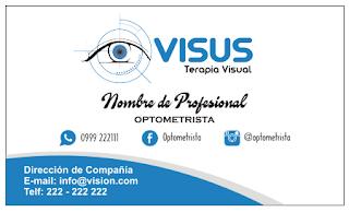 Tarjetas de presentación para optometrista