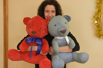 Me and two handmade teddy bears