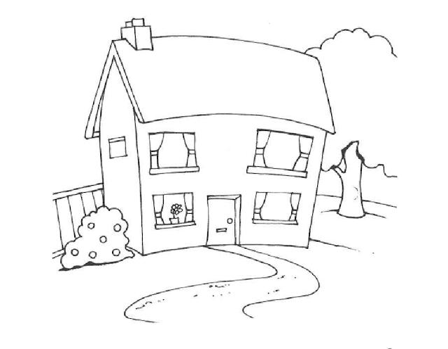 Mewarnai Gambar Rumah - 3