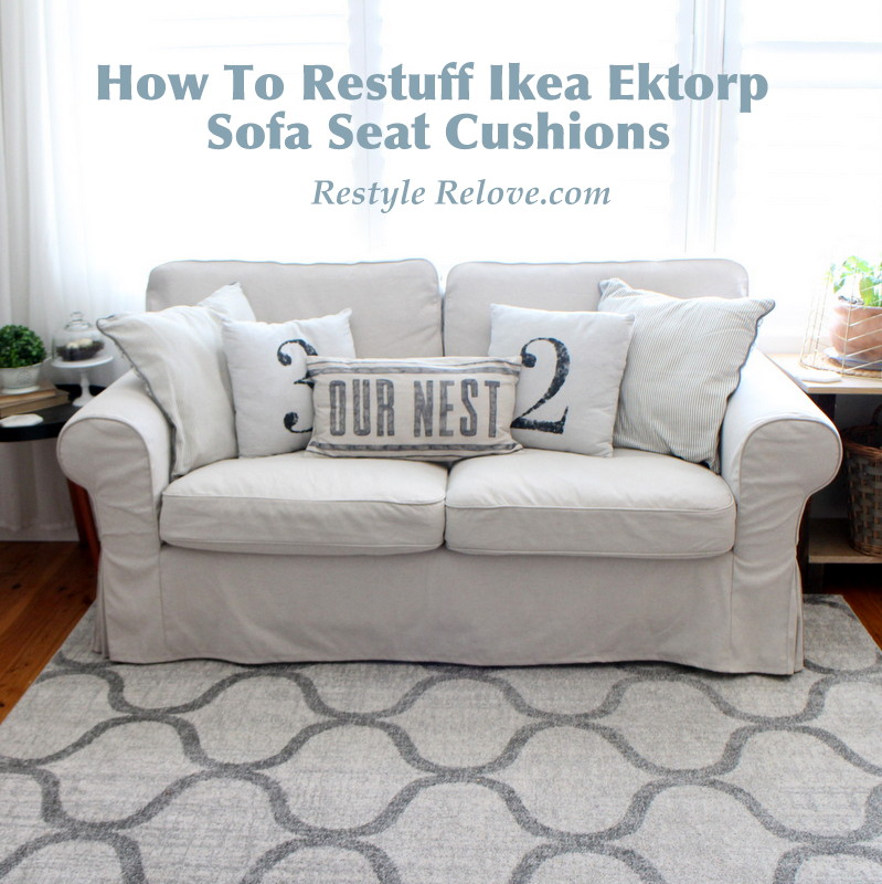 You can replace your sofa cushions with feather wrapped foam or pure feather. How To Restuff Ikea Ektorp Sofa Cushions Cheap, Easy and Quick