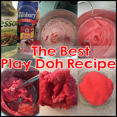 easy play doh recipe that last all year long.