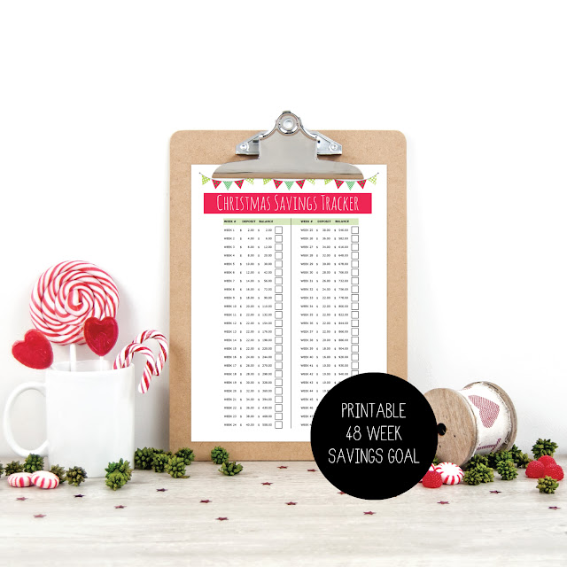 Instant Download - Xmas Savings PDF Printable Tracker by Mum and Me Handmade Designs