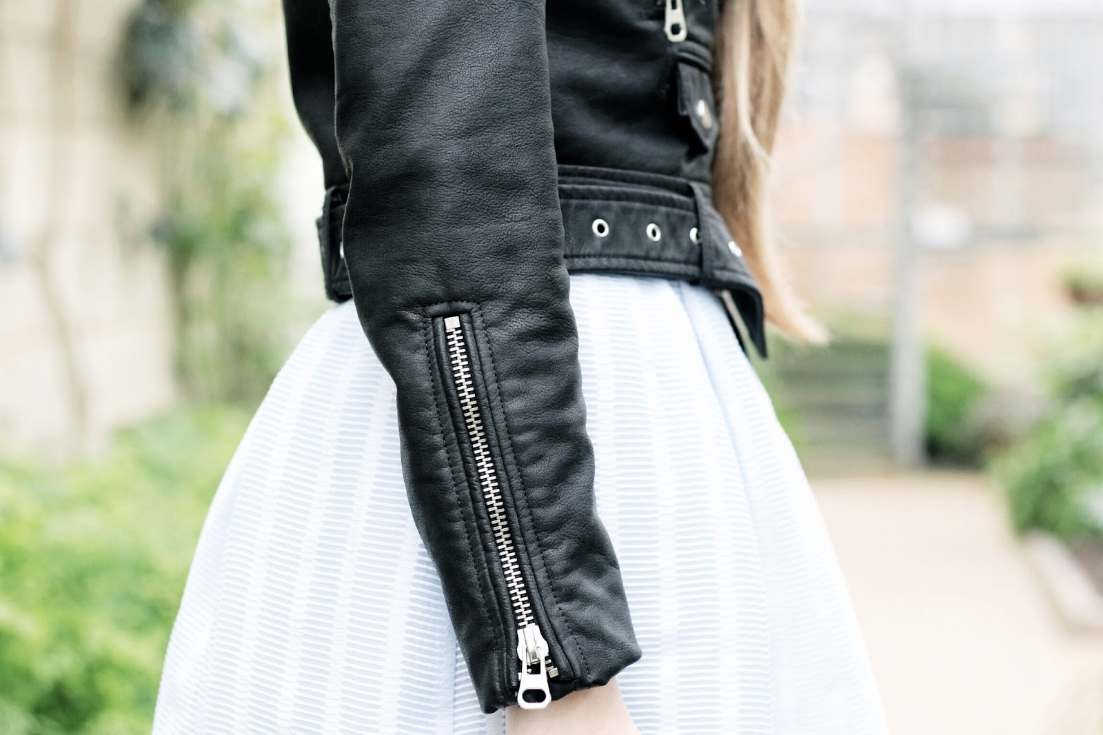 Styling a leather jacket to look more feminine