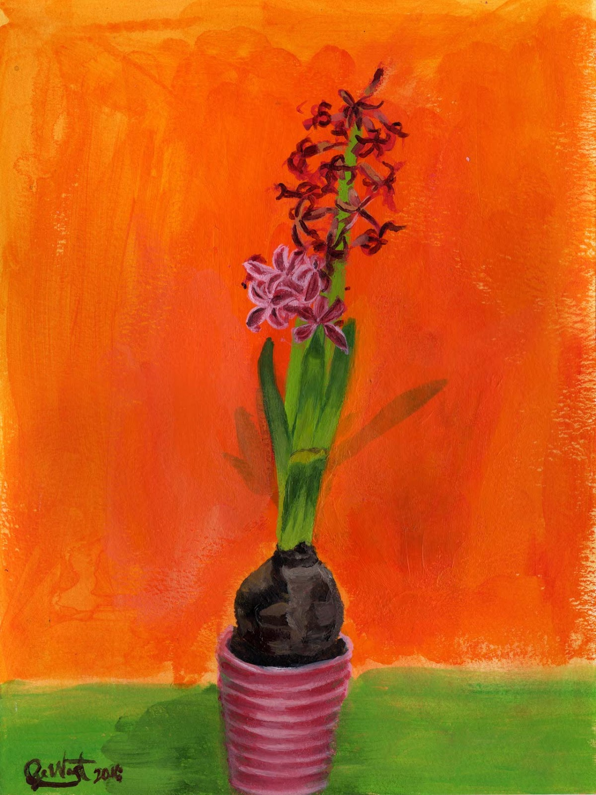 Sze Wat - Painting Study #2 of Hyacinth