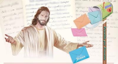 Imagens de JESUS enviando as Cartas para nós