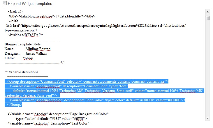 Change Blogger Comment Font, Size and Color | Southern Speakers v3 0