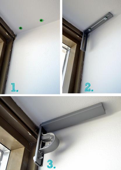 Installing curtain brackets
