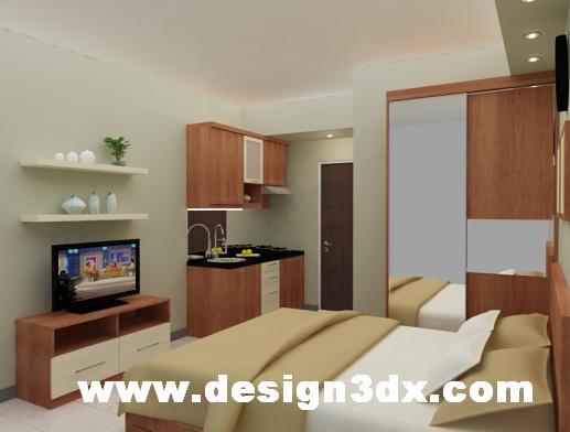 Jasa Desain 3D Interior Eksterior Bangunan Desain Apartemen type